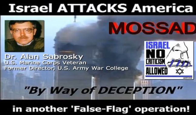 THE US MILITARY KNOWS ISRAEL DID 911. CLICK FOR HIS TESTIMONY.