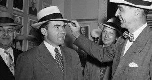 "PRESCOTT BUSH SR. SHOWING WHO'S BOSS TO HIS STOOGE, NIXON. NIXON DECLARED ""THE WAR ON DRUGS"". YOU REALLY THINK IT'S COINCIDENCE THAT BUSH FAMILY ARE THE BIGGEST DRUG DEALERS IN THE WORLD?"