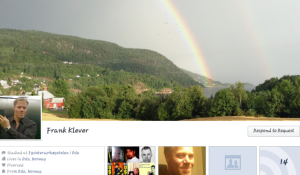 BABY EATER STALKING ME ON FACEBOOK. NOTE THE RAINBOW.